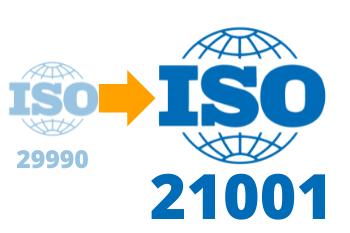 Consulenza Certificazione formazione da iso 29990 a 21001