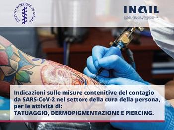 ISS inail tatuaggi cura persona piercing dermopigmentazione